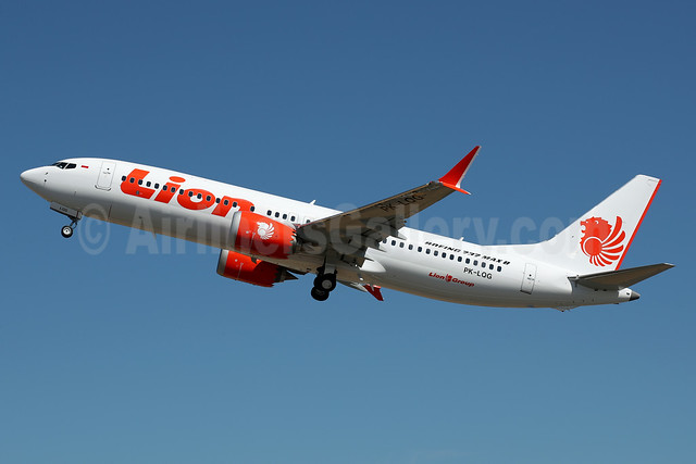 Lion Air (PT Lion Mentari Airlines) Boeing 737 MAX 8 PK-LQG (msn 42995) BFI (James Helbock). Image: 939077.