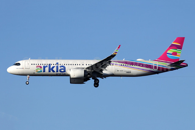 Arkia's first Airbus Airbus A321LR, delivered November 13, 2018