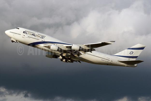 El Al Israel Airlines Boeing 747-458 4X-ELA (msn 26055) LHR (SPA). Image: 925399.