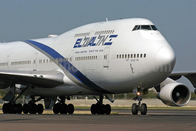 El Al Israel Airlines Boeing 747-458 4X-ELA (msn 26055) LHR (SPA). Image: 948041.