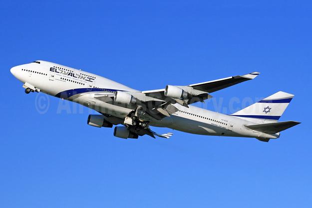 El Al Israel Airlines Boeing 747-458 4X-ELB (msn 26056) LHR (SPA). Image: 948040.
