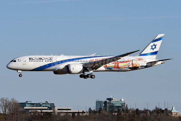 "El Al's 2019 ""San Francisco"" promotional new destination livery"