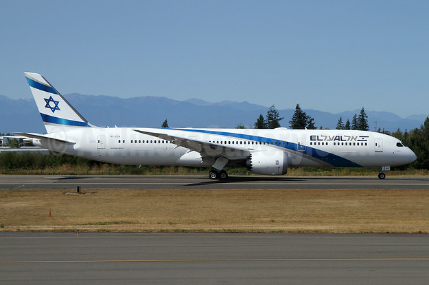 "The first El Al Boeing 787 Dreamliner, delivered on August 22, 2017, named ""Ashdod"""