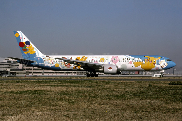 """1999 767 """"Pocket Monsters"""" special livery"""