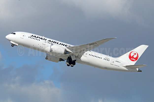 JAL-Japan Airlines Boeing 787-8 Dreamliner JA821J (msn 34831) LAX (Michael B. Ing). Image: 944277.