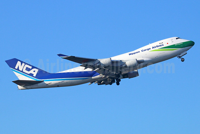 NCA-Nippon Cargo Airlines Boeing 747-481F JA04KZ (msn 34283) (NCA Green Freighter) NRT (Michael B. Ing). Image: 922088.