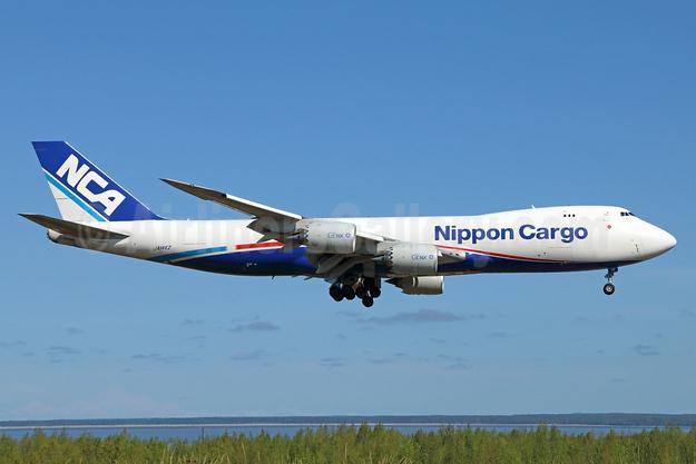 NCA-Nippon Cargo Airlines Boeing 747-8KZF JA14KZ (msn 37394) ANC (Michael B. Ing). Image: 927957.