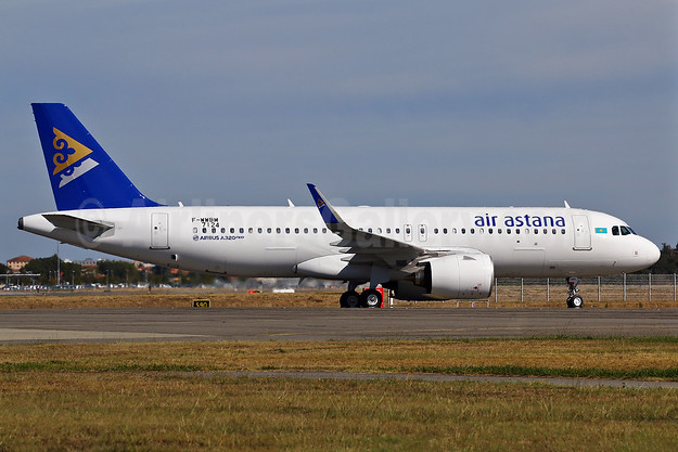 The first Airbus A320neo for Air Astana