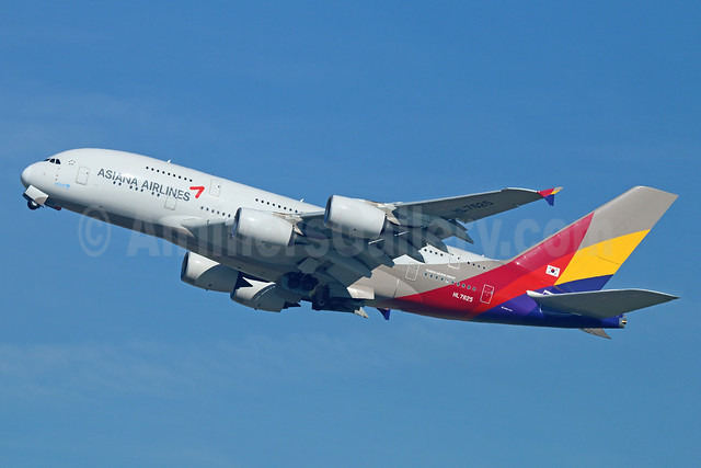 Asiana Airlines Airbus A380-841 HL7625 (msn 152) LAX (Michael B. Ing). Image:  926251.