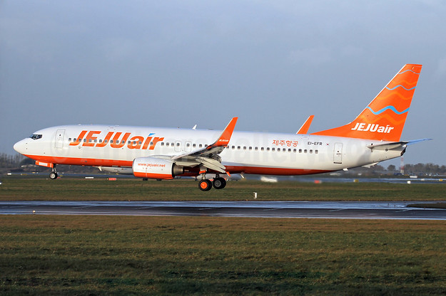Jeju Air Boeing 737-8AS WL EI-EFR (msn 37541) DUB (Michael Kelly). Image: 936267.