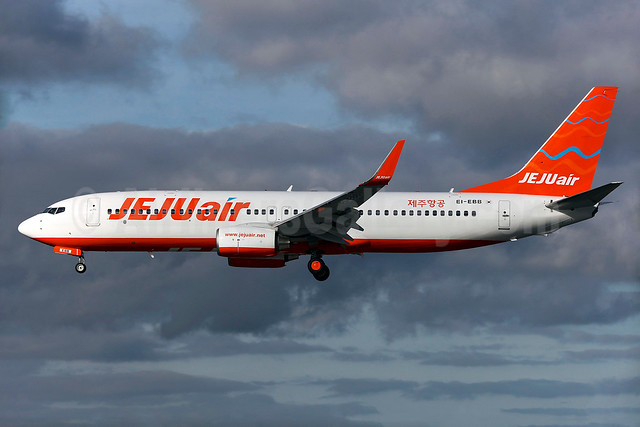 Jeju Air Boeing 737-8AS WL EI-EBB (HL8063) (msn 37519) DUB (Greenwing). Image: 932229.