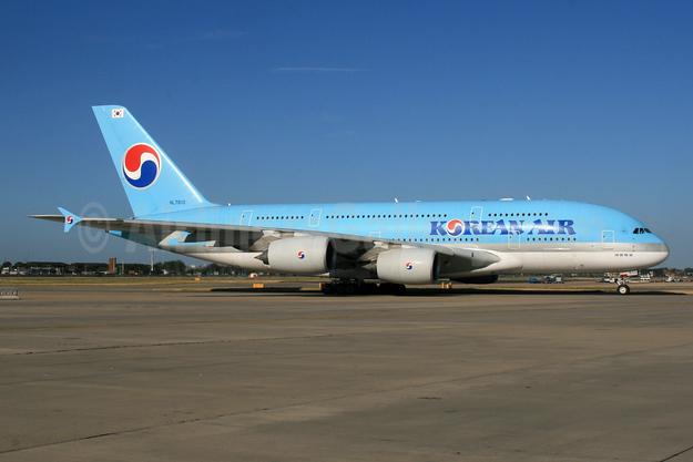 Korean Air Airbus A380-861 HL7619 (msn 096) LHR (SPA). Image: 954739.