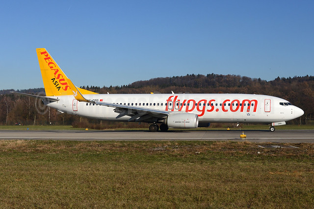 Pegasus Asia (flypgs.com) (Pegasus Airlines and Air Manas joint venture) Boeing 737-82R WL TC-CPD (msn 40726) ZRH (Rolf Wallner). Image: 921356.