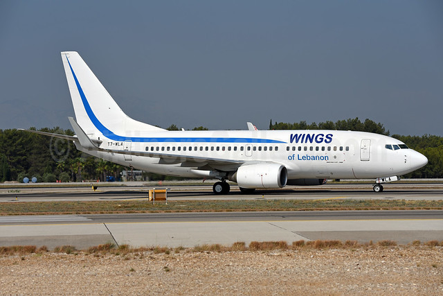 Wings of Lebanon Boeing 737-7K5 WL T7-WLA (msn 35277) AYT (Ton Jochems). Image: 943629.