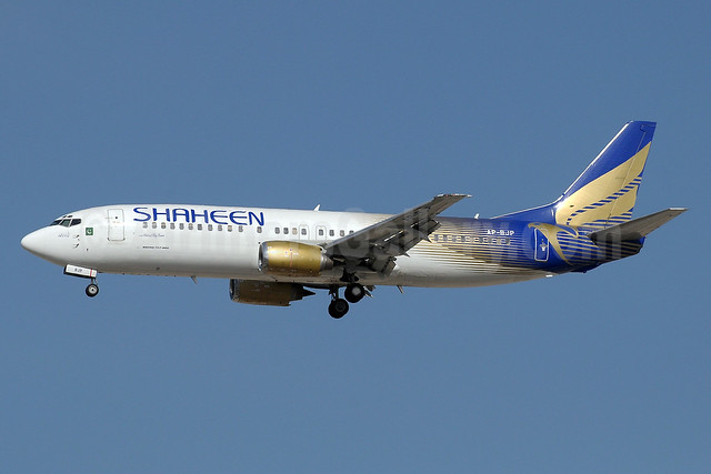 Shaheen Air International Boeing 737-4H6 AP-BJP (msn 27167) DXB (Paul Denton). Image: 910911.