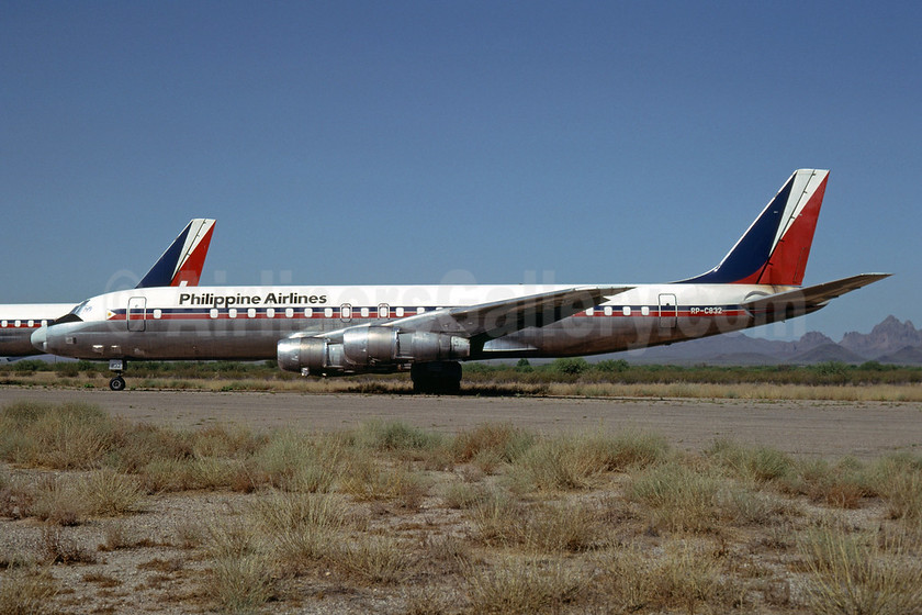 Philippine Airlines McDonnell Douglas DC-8-51 RP-C832 (msn 45806) MZJ (Bruce Drum). Image: 102656.