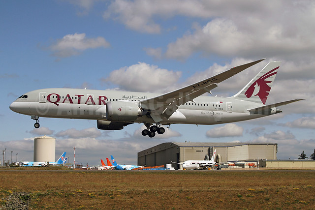 Qatar Airways Boeing 787-8 Dreamliner A7-BCG (msn 38325) PAE (James Helbock). Image: 913267.