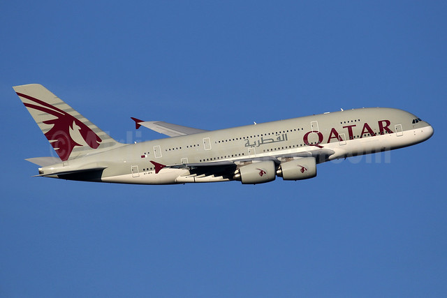 Qatar Airways Airbus A380-861 A7-APA (msn 137) LHR (SPA). Image: 935984.