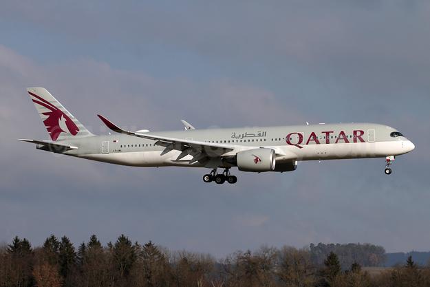 Qatar Airways Airbus A350-941 A7-AML (msn 257) ZRH (Andi Hiltl). Image: 955290.