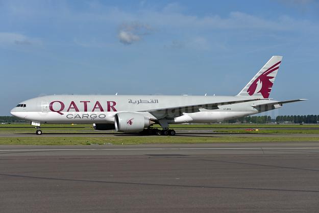 Qatar Airways Cargo Boeing 777-FDZ A7-BFB (msn 36100) AMS (Ton Jochems). Image: 941964.