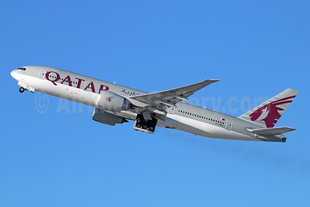 Qatar Airways Boeing 777-2DZ LR A7-BBA (msn 36012) LAX (Michael B. Ing). Image: 944461.