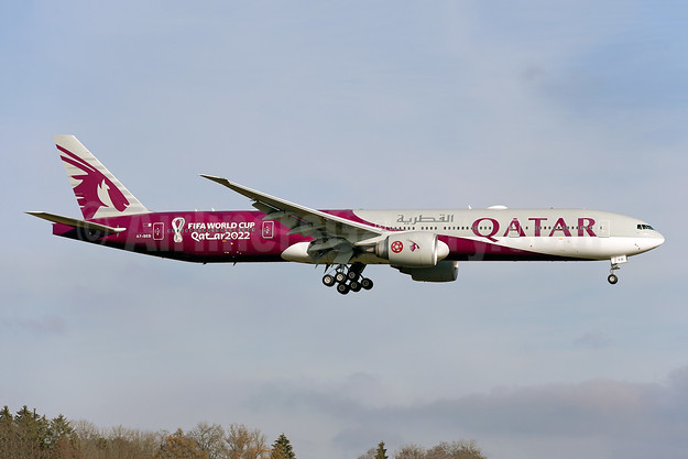 First aircraft in FIFA World Cup Qatar 2022 livery