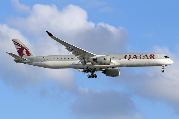 Qatar Airways' first Airbus A350-1000, delivered on February 20, 2018