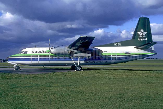 Saudia - Saudi Arabian Airlines Fairchild F-27J N751L (msn 77) MSE (Jacques Guillem). Image: 955080.