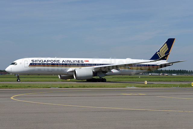 Singapore's first Airbus A350, delivered on February 26, 2016