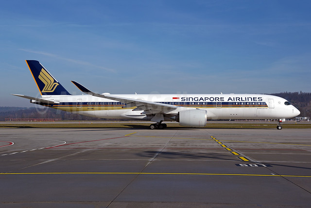 Singapore Airlines Airbus A350-941 9V-SMD (msn 037) ZRH (Rolf Wallner). Image: 952962.