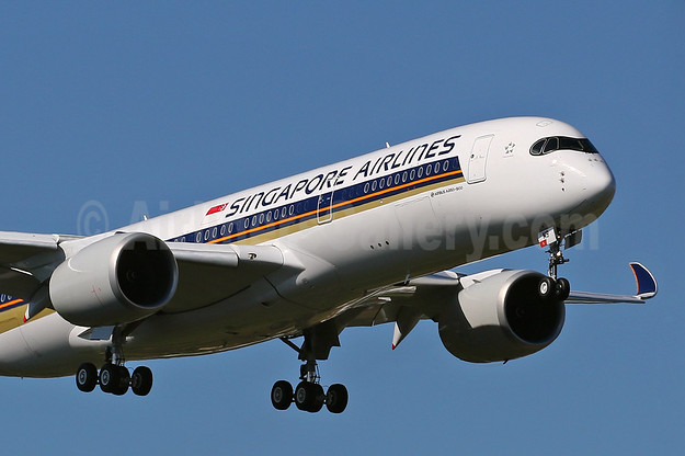 The second Airbus A350 for Singapore Airlines