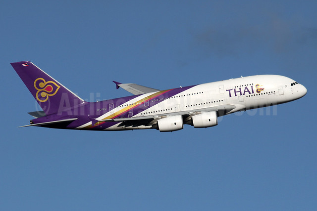 Thai Airways International Airbus A380-841 HS-TUE (msn 125) LHR (SPA). Image: 935870.
