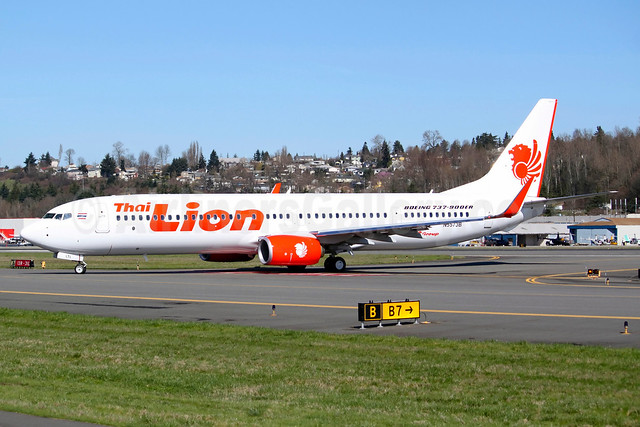 Thai Lion Air Boeing 737-9GP ER WL N5573B (HS-LTL) (msn 38748) BFI (Joe G. Walker). Image: 922376.