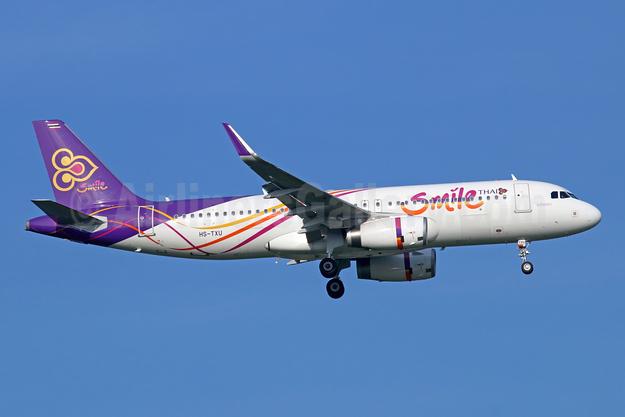 Thai Smile Airbus A320-232 WL HS-TXU (msn 6795) BKK (Michael B. Ing). Image: 946619.