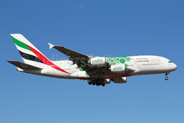 Emirates Airline Airbus A380-861 A6-EOJ (msn 182) (Expo 2020 Dubai UAE) FRA (Marcelo F. De Biasi). Image: 945323.
