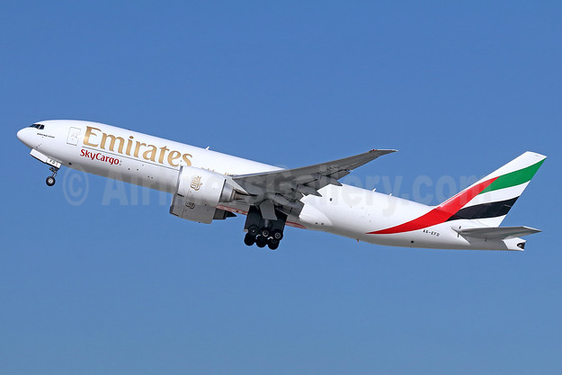 Emirates SkyCargo (Emirates Airline) Boeing 777-F1H A6-EFD (msn 35606) LAX (Michael B. Ing). Image: 949540.