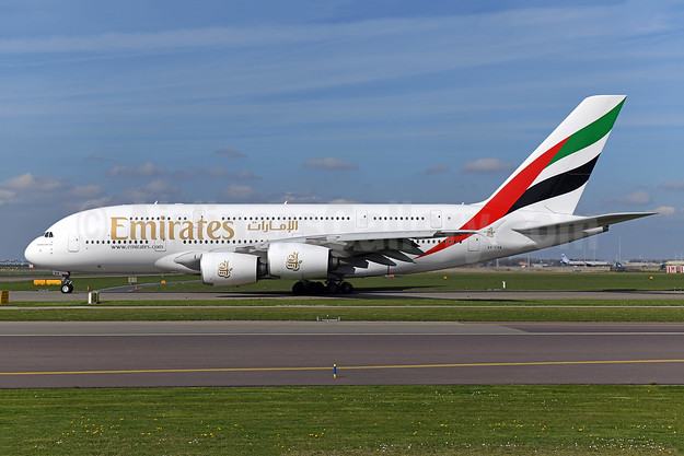 Emirates Airline Airbus A380-861 A6-EUA (msn 211) AMS (Ton Jochems). Image: 948121.
