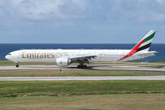 Emirates Airline Boeing 777-31H ER A6-EBU (msn 34484) SEZ (Nick Dean). Image: 942364.