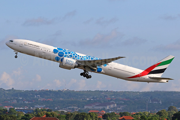 Emirates Airline Boeing 777-31H ER A6-ENI (msn 41087) (Expo 2020 Dubai UAE) DPS (Pascal Simon). Image: 943557.