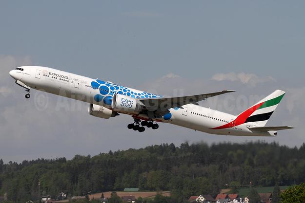 Emirates Airline Boeing 777-31H ER A6-EPK (msn 42330) (Expo 2020 Dubai UAE) ZRH (Andi Hiltl). Image: 950101.