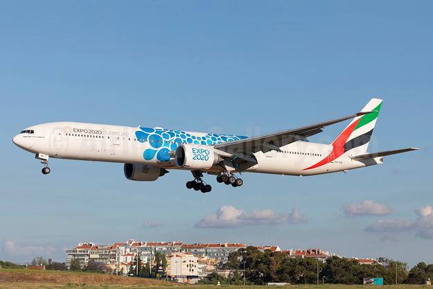 Emirates Airline Boeing 777-31H ER A6-ENI (msn 41087) (Expo 2020 Dubai UAE) LIS (Stefan Sjogren). Image: 942642.
