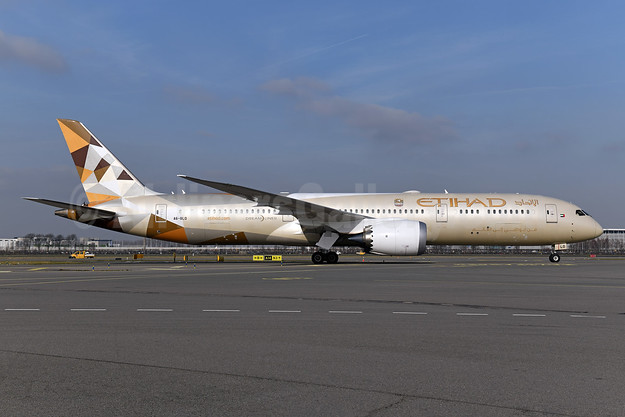 Etihad Airways Boeing 787-9 Dreamliner A6-BLO (msn 39660) AMS (Ton Jochems). Image: 945941.