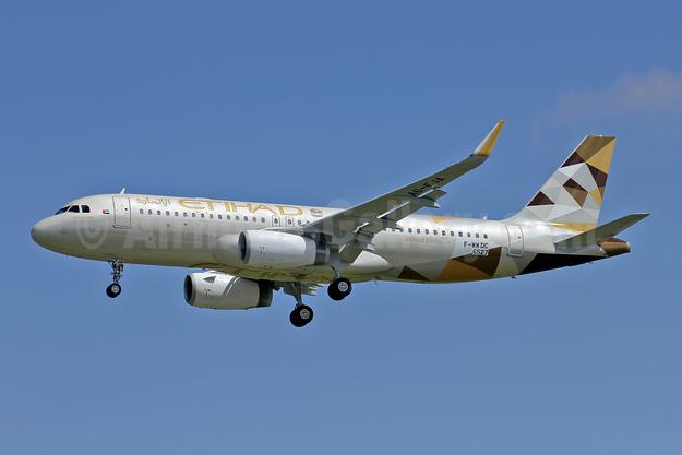 Etihad Airways Airbus A320-232 WL F-WWDC (A6-EJA) (msn 6527) TLS (Eurospot). Image: 946392.