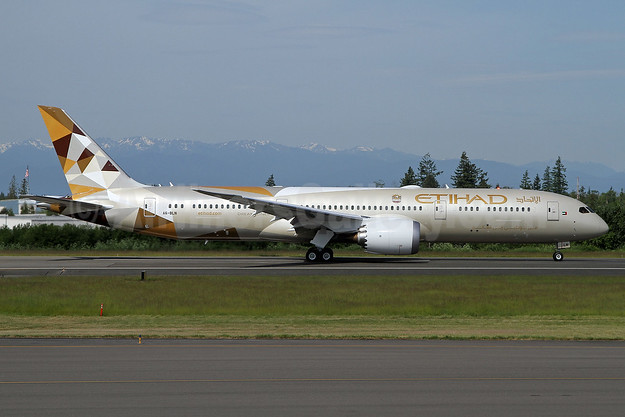 Etihad Airways Boeing 787-9 Dreamliner A6-BLN (msn 39659) PAE (Nick Dean). Image: 938115.