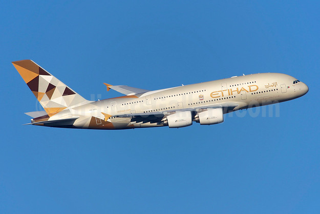 Etihad Airways Airbus A380-861 A6-APG (msn 198) LHR (Greenwing). Image: 945661.