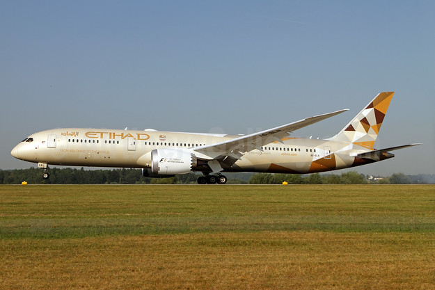 Etihad Airways Boeing 787-9 Dreamliner A6-BLN (msn 39659) ZRH (Andi Hiltl). Image: 938290.