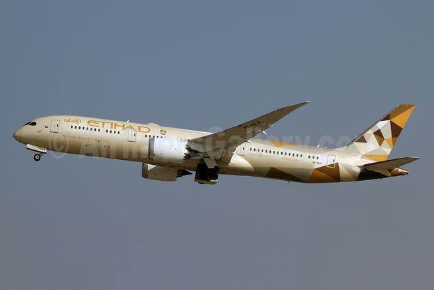 Etihad Airways Boeing 787-9 Dreamliner A6-BLH (msn 39653) ZRH (Andi Hiltl). Image: 941111.