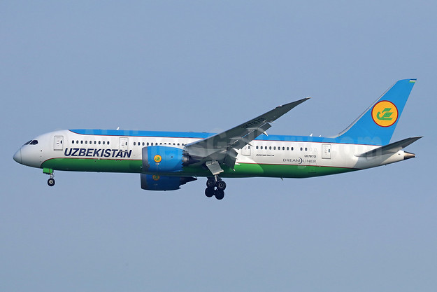Uzbekistan Airways Boeing 787-8 Dreamliner UK78701 (msn 38363) BKK (Michael B. Ing). Image: 940632.