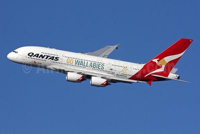 Go Wallabies Airbus A380 logo jet