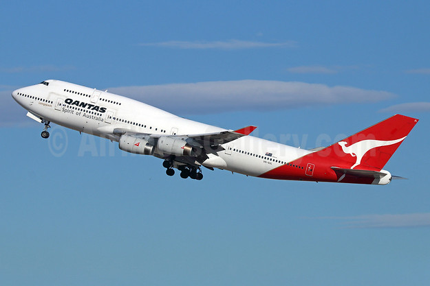 QANTAS Airways Boeing 747-438 VH-OJL (msn 25151) LAX (Michael B. Ing). Image: 921533.